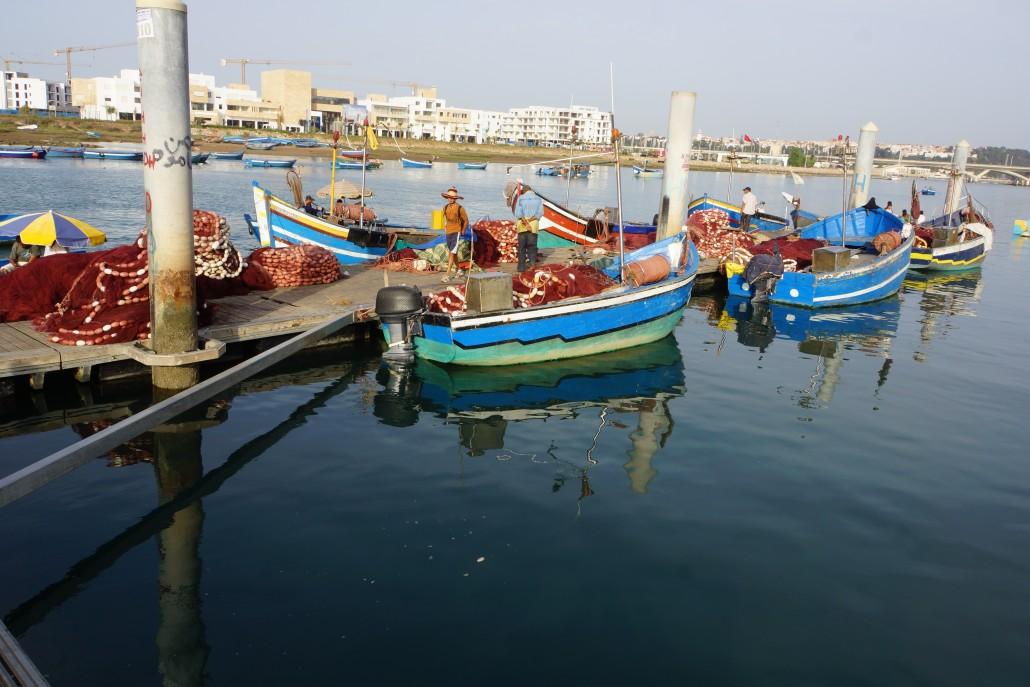 De flesta ror sina vackra båtar även om några har motor för at sig längre ut på havet.