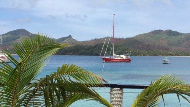 Vy från the Boat House på Resorten