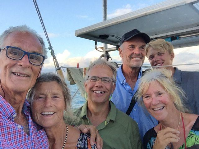 """Nerthus """"crew"""" aug - okt PE, Maria, Staffan, Tomas, Birthe, Otto."""