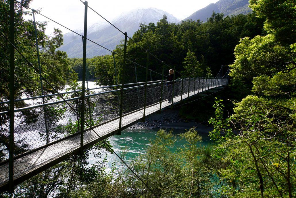 Stigarna är fint ordnade och broar fixas om det behövs. NZ gör verkligen vad dom kan för att vi som besökare ska kunna ta del av deras fantastiska land och natur.